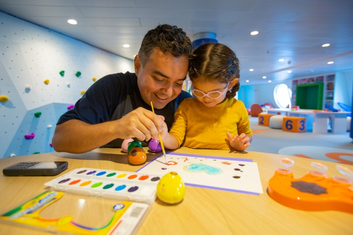 March 2019 - On board the newly amplified Navigator of the Seas, the reimagined open, freeplay space in Adventure Ocean lets young guests' imaginations roam free with activitiesorganized by interest at every corner.
