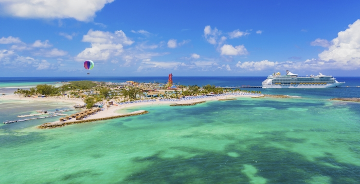 May 2019 – Royal Caribbean International's Perfect Day at CocoCay offers a combination of first-of-their-kind thrills and one-of-a-kind ways to chill that forever changes what is possible in a vacation destination. From plunging down the tallest waterslide in North America and traveling up to 450 feet in the air in the Up, Up and Away helium balloon, to conquering the Caribbean's largest wave pool, thrill seekers can find plenty of ways to put their courage to the test. For those looking to relax, Perfect Day features the Caribbean's largest freshwater pool, Oasis Lagoon; and pristine, white sand beaches with crystal-clear tropical water, so guests of all ages can create their perfect beach day – no matter what that may look like.