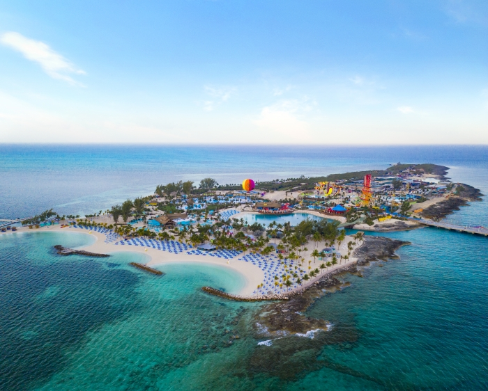 May 2019 - Royal Caribbean International's Perfect Day at CocoCay offers a combination of first-of-their-kind thrills and one-of-a-kind ways to chill that forever changes what is possible in a vacation destination. From plunging down the tallest waterslide in North America and traveling up to 450 feet in the air in the Up, Up and Away helium balloon, to conquering the Caribbean's largest wave pool, thrill seekers can find plenty of ways to put their courage to the test. For those looking to relax, Perfect Day features the Caribbean's largest freshwater pool, Oasis Lagoon; and pristine, white sand beaches with crystal-clear tropical water, so guests of all ages can create their perfect beach day – no matter what that may look like.