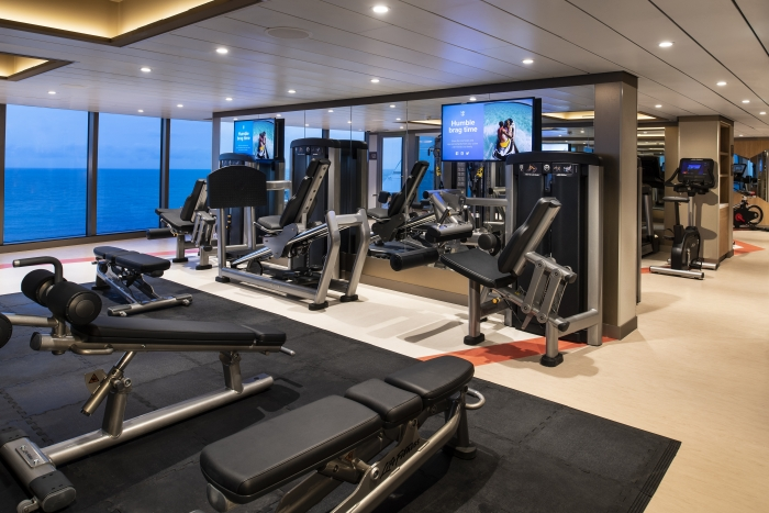Body & Mind Fitness Center on board Spectrum of the Seas makes it easy for guests to maintain their healthy lifestyle while at sea with a full-service center, complete with state-of-the-art equipment and a lineup of workout classes.