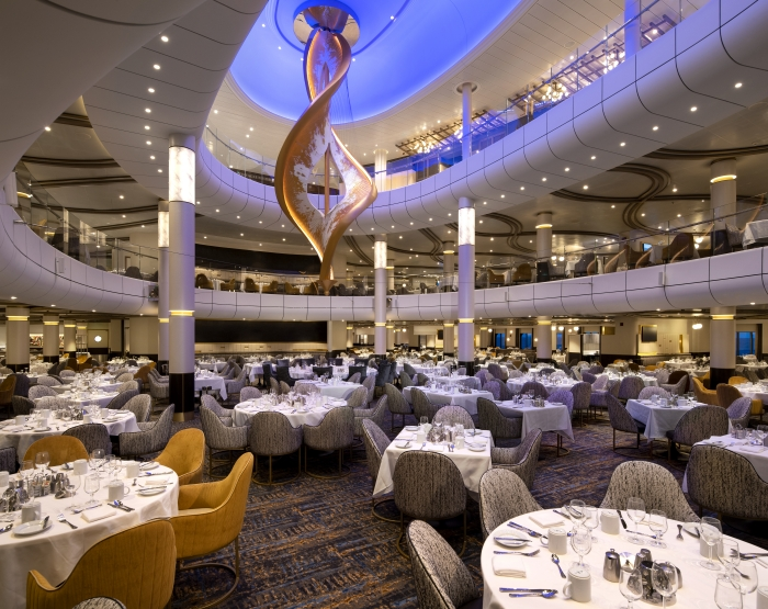 The Main Dining Room on board Spectrum of the Seas.