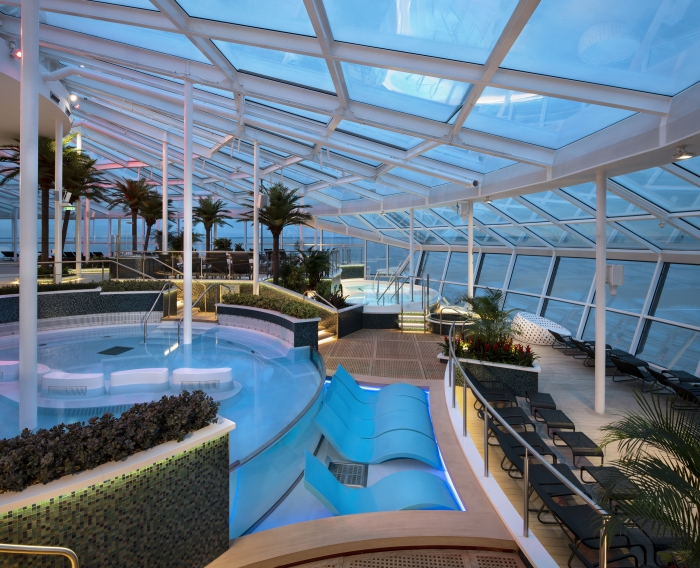 The Solarium on board Spectrum of the Seas.