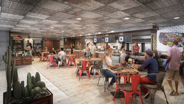 July 2019 – Royal Caribbean's first barbecue restaurant, Portside BBQ, will debut on the amplified Oasis and Allure of the Seas. Portside BBQ will feature a meat-packed menu inspired by popular barbecue styles across the United States, including brisket, pulled pork, chicken and burnt ends. The casual eatery will tie it all together with classic sides – from mac and cheese to homestyle cornbread and baked beans – and down-home desserts.