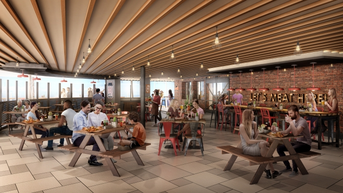 May 2019 – Royal Caribbean's first barbecue restaurant, Portside BBQ, will debut on the amplified Oasis of the Seas as one of 23 dining options on board. Portside BBQ will feature an authentic, meat-packed menu inspired by the best-in-class barbecue across the United States, from smoked marbled brisket, pulled pork and chicken, to beef ribs and burnt ends. The casual eatery will tie it all together with classic sides – including mac and cheese, homestyle cornbread and baked beans – and down-home desserts.