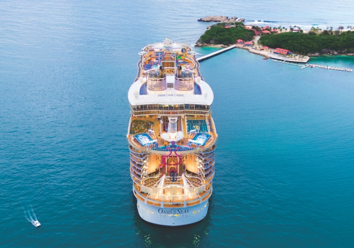 May 2019 – The ship that revolutionized the cruise industry, Oasis of the Seas, marks its 10-year anniversary with a larger-than-ever, $165 million amplification. The first to introduce the unique seven-neighborhood concept, Royal Caribbean's original gamechanger will set a new standard for family vacations in November 2019 with first-to-brand experiences and the latest Royal Caribbean hits. Upcoming features include new barbecue concept Portside BBQ, dedicated karaoke venue Spotlight Karaoke, a reimagined, Caribbean-inspired pool deck with a Splashaway Bay kids aquapark and The Lime & Coconut signature bar; famed Quantum Class staple, Music Hall; the Perfect Storm trio of waterslides, and the Ultimate Abyss – the tallest slide at sea.