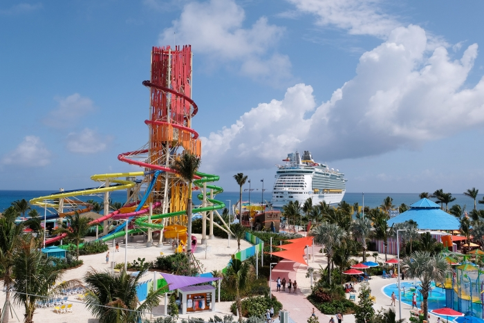 On May 4, guests visiting Royal Caribbean International's newly transformed private island in The Bahamas, Perfect Day at CocoCay, were the first to conquer Thrill Waterpark. With 13 slides, the waterpark boasts the most waterslides found in any waterpark in the Caribbean and the tallest in North America, Daredevil's Peak.