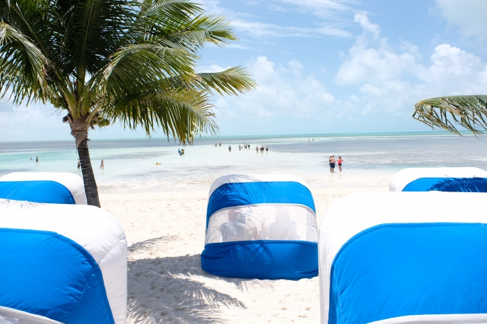 Royal Caribbean's Perfect Day at CocoCay features South Beach, which offers beautiful, pristine beaches; beachside sports and activities, a floating bar and plenty of ways to relax.