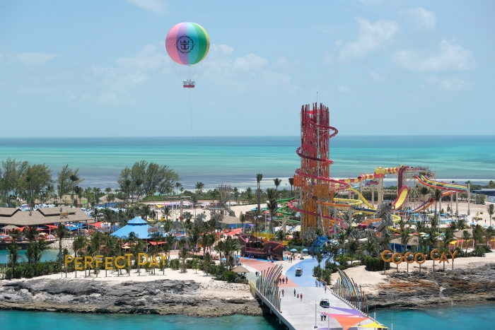 Royal Caribbean International unveiled Perfect Day at CocoCay in The Bahamas on May 4, the first in the cruise line's new Perfect Day Island Collection of unrivaled private destinations around the world.