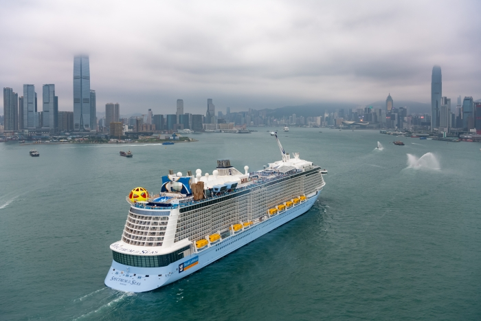 May 2019 – Spectrum of the Seas, the first Quantum Ultra ship, arrives in Hong Kong.