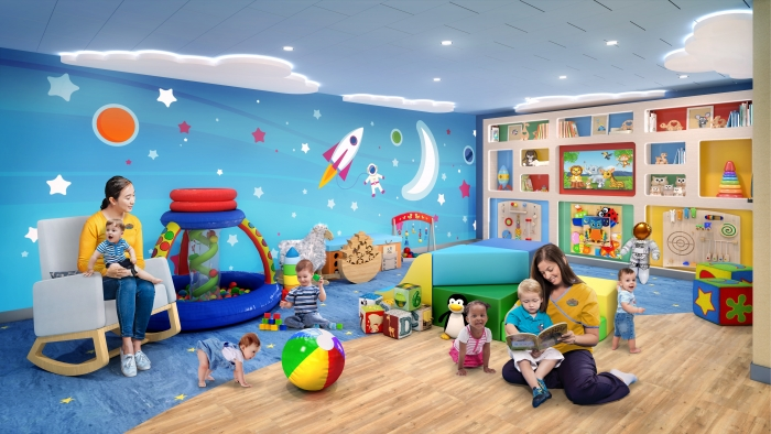 July 2019 – The award-winning Adventure Ocean program will be reimagined from top to bottom on board the amplified Allure and Oasis of the Seas. In the new AO Babies area, babies and tots can enjoy a dedicated space designed to engage all the senses.
