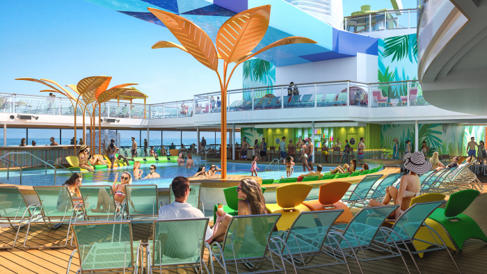 October 2019 – Royal Caribbean's new Odyssey of the Seas will be the first Quantum Ultra Class ship to feature two open-air, resort-style pools. Designed for downtime under the sun and stars, Odyssey will debut November 2020, cruising from Fort Lauderdale, FL to the eastern, southern and western Caribbean. Beginning May 2021, Odyssey will sail from Rome to the idyllic Greek Isles.