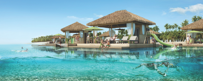 September 2019 - Coco Beach Club, opening in January 2020, will give travelers the chance to experience an upscale take on Perfect Day at CocoCay's authentic Caribbean vibes. The exclusive area will feature 20 floating cabanas, the first of their kind in The Bahamas, that willinclude an overwater hammock, a slide into the ocean, dining area, lounge chairs, a freshwater shower and dedicated concierge, everything vacationers would want for a day of complete indulgence.