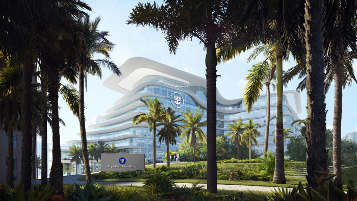 July 2020 – A rendering of Royal Caribbean Group's future headquarters.