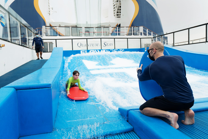 December 2020 – With Quantum of the Seas' healthy return to sailing, Singapore residents can safely enjoy the ship's bold lineup of thrilling activities like the signature FlowRider surf simulator.