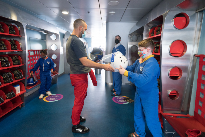 December 2020 – Royal Caribbean's game-changing Quantum of the Seas has returned to sailing in Singapore with 3- and 4-night Ocean Getaways. For a healthier and safer adventure for all, guests and crew must wear masks on board and during signature experiences like skydiving in the RipCord by iFLY simulator and riding the North Star glass observation capsule.