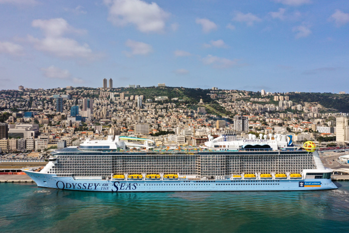 April 2021 – Odyssey of the Seas arrives at its homeport of Haifa, Israel for the first time, ahead of setting sail with Israel residents on highly anticipated cruises to Greece and Cyprus in May. The Quantum Ultra Class ship now begins provisioning and staff are further familiarizing themselves with bringing a ship of this stature into Haifa for the first time.