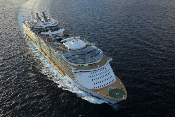 Allure of the Seas at sea.
