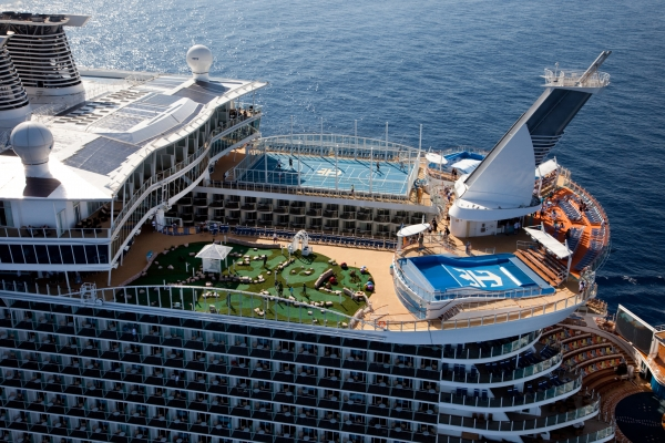 Royal Caribbean International's Oasis of the Seas at sea.