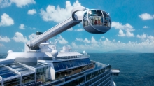 North Star, <em>Quantum of the Seas'&nbsp;</em>and&nbsp;<em>Anthem of the Seas'&nbsp;</em>most distinctive feature, will take Royal Caribbean guests to new heights on a breathtaking journey more than 300 feet above sea level.