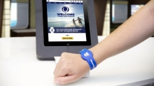 <em>Quantum of the Seas</em> will offer new RFID WOWband wristbands, which require only a simple tap to quickly navigate the ship, make onboard purchases, serve as the room key and more