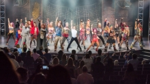 Royal Caribbean introduces its newest and most technologically advanced cruise ship&nbsp;<em>Anthem of the Seas</em>. We Will Rock You performance in the Royal Theatre