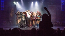 Royal Caribbean introduces its newest and most technologically advanced cruise ship <em>Anthem of the Seas</em>. We Will Rock You performance in the Royal Theatre
