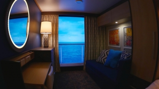 Quantum of the Seas Virtual Balcony Stateroom B-roll