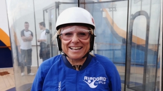Lisa Lutoff-Perlo in RipCord by iFly onboard <em>Quantum of the Seas</em>