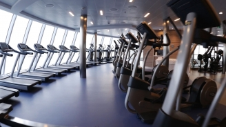 Quantum of the Seas Vitality Fitness Center B-roll