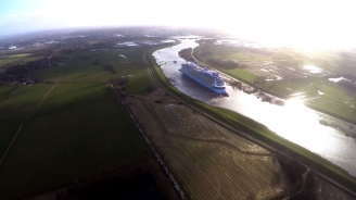 Anthem of the Seas Conveyance from Meyer Werft Vinfographic