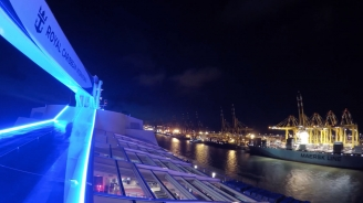 Anthem of the Seas Leaves Bremerhaven Timelapse