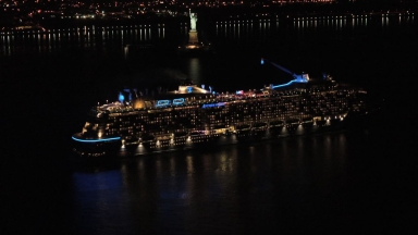 Anthem of the Seas New York Arrival B-roll