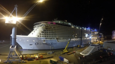 North Star Installation on Ovation of the Seas Timelapse