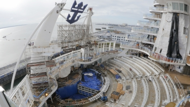 The World's Largest Ship Almost Complete: A Shipyard Update from Royal Caribbean