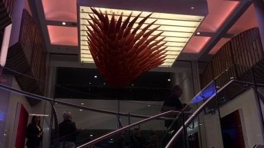 Ovation of the Seas Sky Wave Art Installation