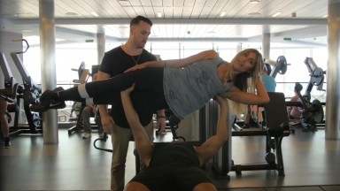 #FitAdventure Onboard #Anthem of the Seas Bench Press