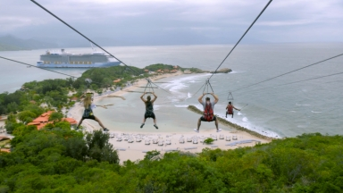 #FitAdventure on Dragon's Breath Zipline