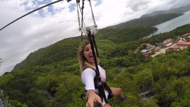 #FitAdventure on Dragon's Breath Zipline: Emma Slater