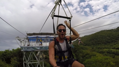 #FitAdventure on Dragon's Breath Zipline: Carlos Penavega