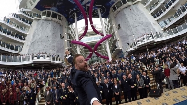 Worlds' Largest Crew Selfie on Harmony of the Seas