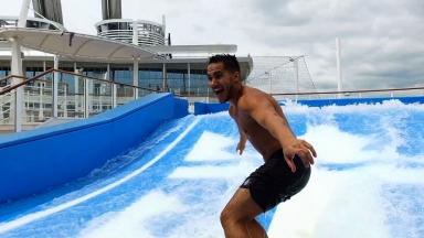 Carlos PenaVega on Harmony of the Seas B-roll