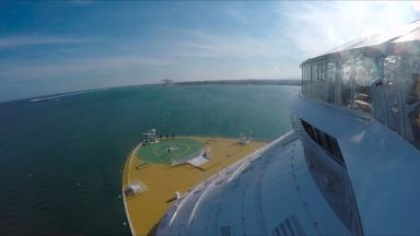 Harmony of the Seas Barcelona Sail Away B-Roll