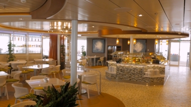 Ovation of the Seas Solarium Bistro B-roll