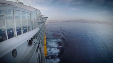 Harmony of the Seas Malaga Sail Away Timelapse