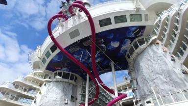 Thrill Seekers Slide into Adventure: A Behind-The-Scenes Look at Harmony of the Seas' Ultimate Abyss
