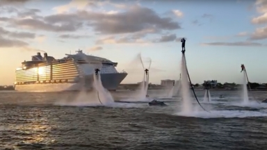 Harmony of the Seas Flyboarders Montage