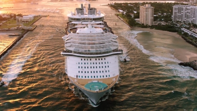 World's Largest Cruise Ship Makes a Big Splash: Royal Caribbean's Harmony of the Seas Sets Sail From New Homeport for First Time