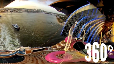 Harmony of the Seas US Departure in 360
