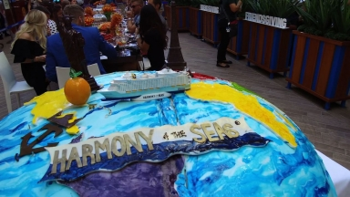 Harmony of the Seas' Friendsgiving Cake