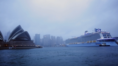 Ovation of the Seas arrives in Sydney Australia